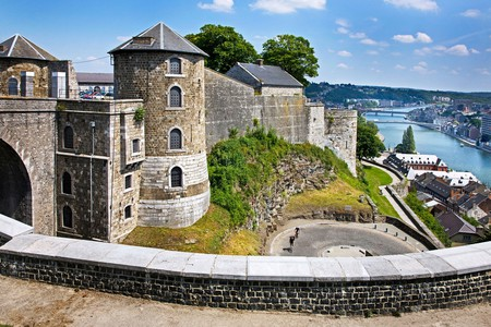 One of the best sights of the city is from the Citadel of Namur