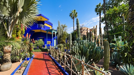 The Majorelle Gardens with the iconic Blue Home at their centre