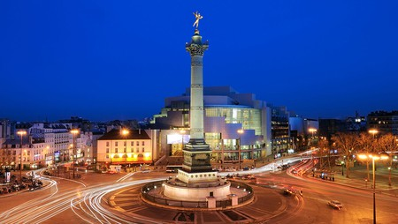 The Place de la Bastille is the site of the former Revolutionary prison and now anchors the lively neighbourhood around it