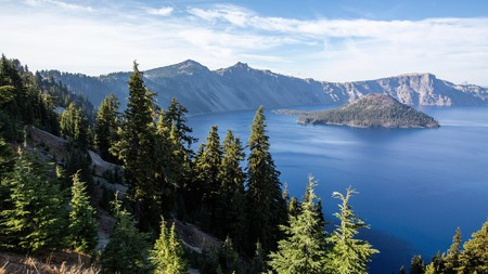 Crater Lake in Oregon is the deepest lake in the United States