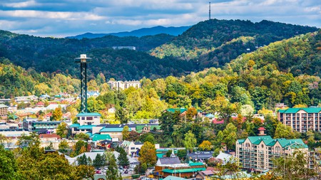 The resort town of Gatlinburg, Tennessee, occupies an enviable position in the Smoky Mountains