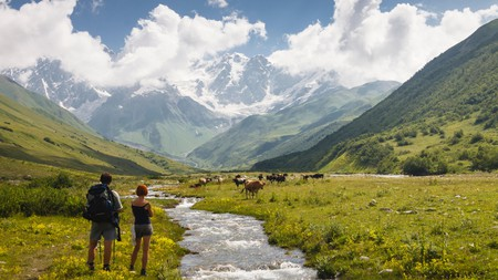 The Shkhara Glacier, Svaneti, is located to the northeast of Ushguli – and is best visited in the summer months