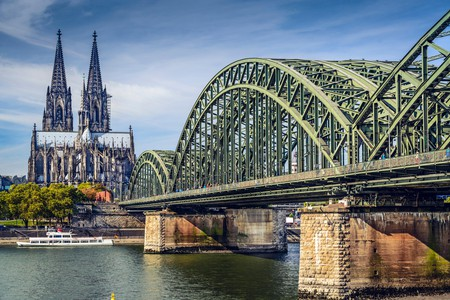 Hohenzollern Bridge and the cathedral on the Rhine are just two examples of the impressive architecture in Cologne