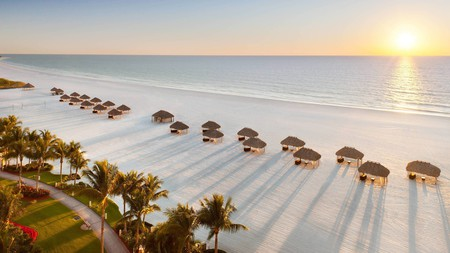 The JW Marriott Marco Island Beach Resort sits next to 3mi (5km) of private white sands