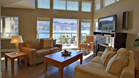 The Cove Lakeside Resort offers stunning views across the adjacent Okanagan Lake