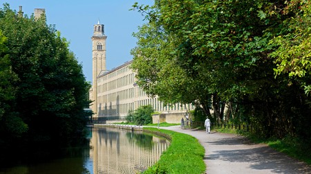 View of Salts Mill from the Leeds & Liverpool Canal, Saltaire