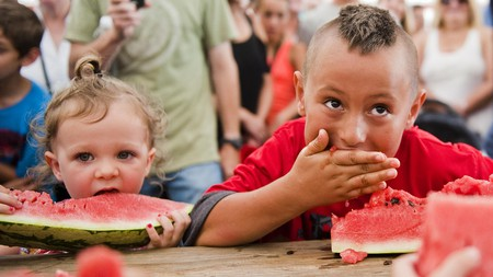The Luling Watermelon Thump holds watermelon-eating contests for every age group, so grab the whole family