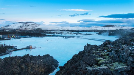 The Blue Lagoon is a popular tourist attraction, renowned for its milky, mineral-rich waters