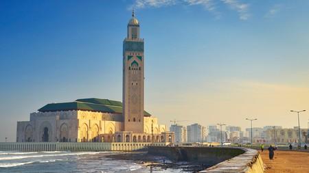 Casablanca's Hassan II Mosque dominates the seafront skyline