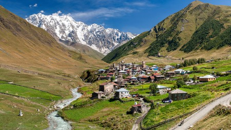 Enjoy hiking through two of the four hamlets within the Ushguli community upon your travels through northern Georgia