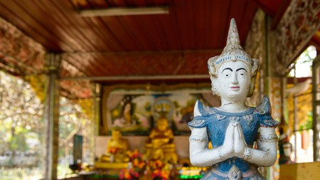 Marvel at the statues at Wat Chiang Man, one of the many must-see temples in Chiang Mai, Thailand