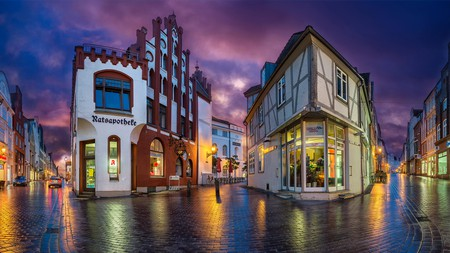 Wismar, Northern Germany, combines stately period architecture with modern shopping opportunities