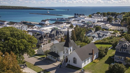 Mackinac Island is a National Historic Landmark and a popular tourist attraction