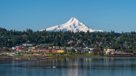 Hood River is set in the Columbia River Gorge National Scenic Area, Oregon