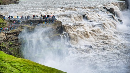 Gullfoss is one of many impressive cascades in Iceland