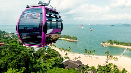 You can't miss a ride on the cable car on a visit to Sentosa Island in Singapore