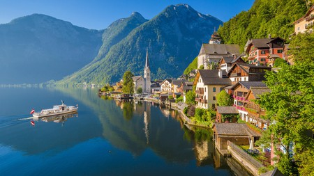 Hallstatt occupies a striking position on the lake of the same name, surrounded by the Salzkammergut mountains