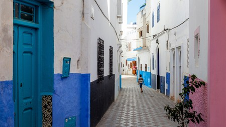 The colourful streets of Asilah's old town blend Moroccan and Andalusian aesthetics