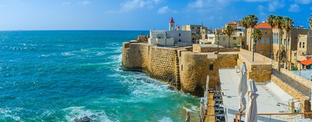 Akko's cityscape blends several distinct architectural styles. Here, the Franciscan Church of St. John can be seen in the background