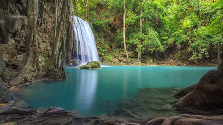 The seven-level Erawan Waterfall is nature at its finest