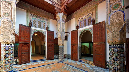 You can't miss the stunning interior of the Dar Jamai Museum on a visit to Meknes