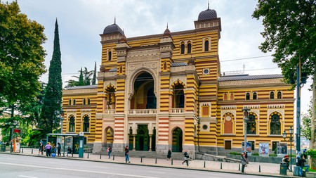The Tbilisi State Opera House is one of the most distinctive buildings in the Georgian capital