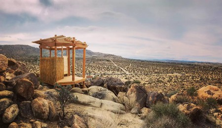 J Tree Boulder Garden boasts an outhouse with some seriously enviable views