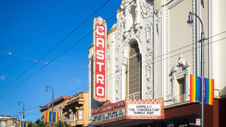 The Castro Theatre in San Francisco's most famous LGBTQ neighborhood