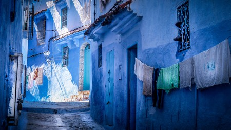 Chefchaouen's distinctive blue buildings draw visitors from all over the world