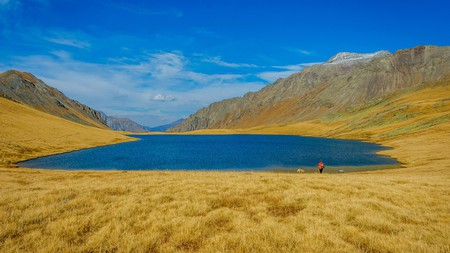 Get off the grid in Georgia by visiting one of the country's lakes, like Black Rock Lake high up in Lagodekhi National Park
