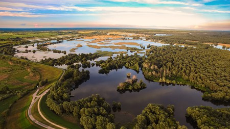The marshy area of Kopacki Rit sits between the Danube and Drava River on the eastern side of Croatia