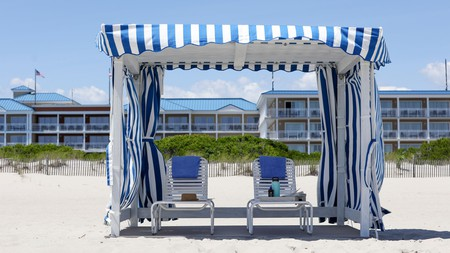 La Mer Beachfront Resort in Cape May comes with its own private beach house for family gatherings, group getaways – and even weddings