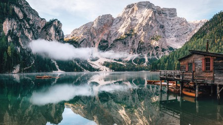 Braies Lake offers alpine vistas at the heart of the Dolomite Mountains