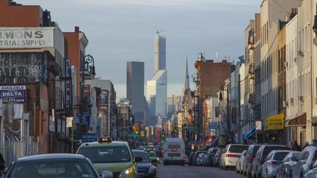 Manhattan Avenue is a bustling street in Greenpoint, Brooklyn, New York City