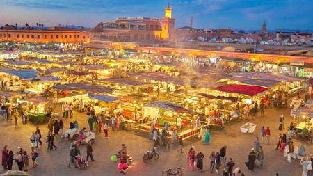 Stroll through the endless souks of Marrakech to get a real taste of Morocco's Red City