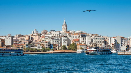 PHPNBE The beautiful view of the Galata Tower across the Golden Horn, Istanbul, Turkey