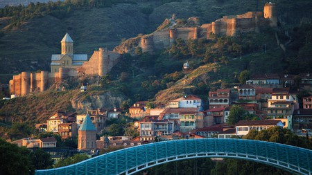 Take in the Narikala Fortress and Peace Bridge on a magical walking tour of Tbilisi