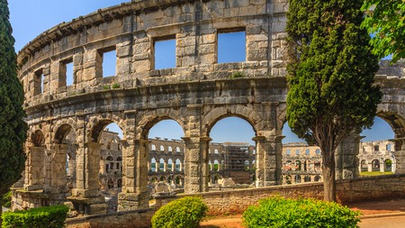The amphitheatre in Pula is one of the best-preserved Roman amphitheatres in the world
