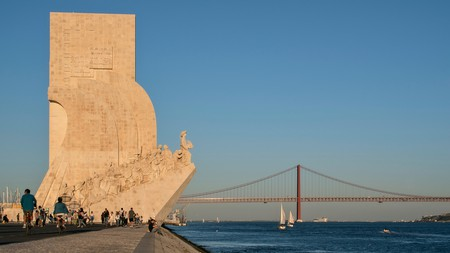 The Monument to the Discoveries on the banks of the Tagus River marks Belém's place at the heart of Portuguese history