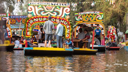 The colorful, flat-bottomed boats known as trajineras are the perfect way to tour Xochimilco