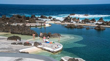 Natural lava swimming pools in Porto Moniz, Madeira