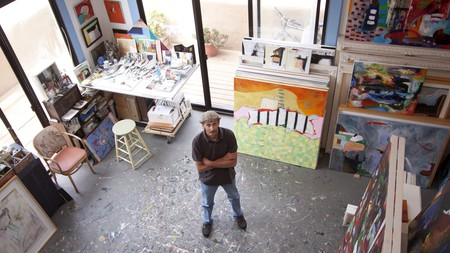 You can visit artists like Francis Scorzelli in their studios at the Santa Barbara Open Studios