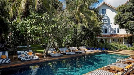 The tranquil Santa Teresa Hotel serves as an ideal honeymoon getaway in Rio de Janeiro