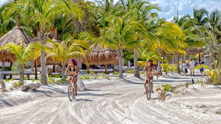 A bike is the easiest way to get around this tiny island