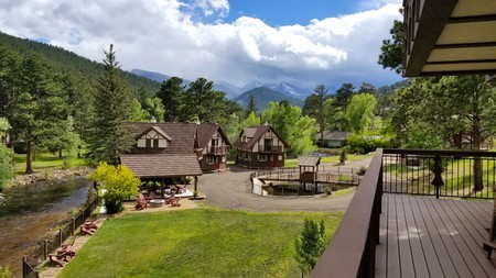 The Landing at Estes Park offers rustic charm in the Rockies