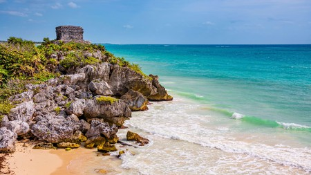 The beachside ruins at Tulum are among the most visited archaeological ruins in Mexico