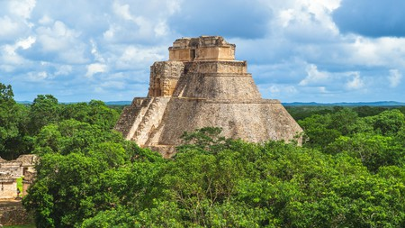 The Pyramid of the Magician, in Uxmal, is striking