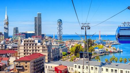 The coastal city of Batumi is a popular spot for holidaying Georgians
