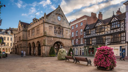 The market town of Shrewsbury, Shropshire, is packed with historic Tudor buildings