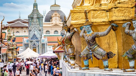 Explore the intricate details of the Temple of Emerald Buddha in the Grand Royal Palace in Bangkok, Thailand